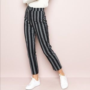 Brandy Melville black and grey striped pants